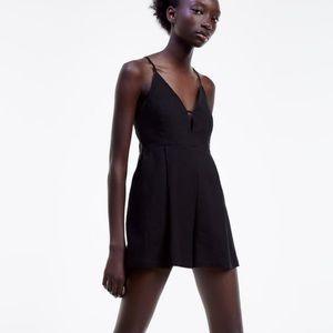 Zara Black Romper, Size M